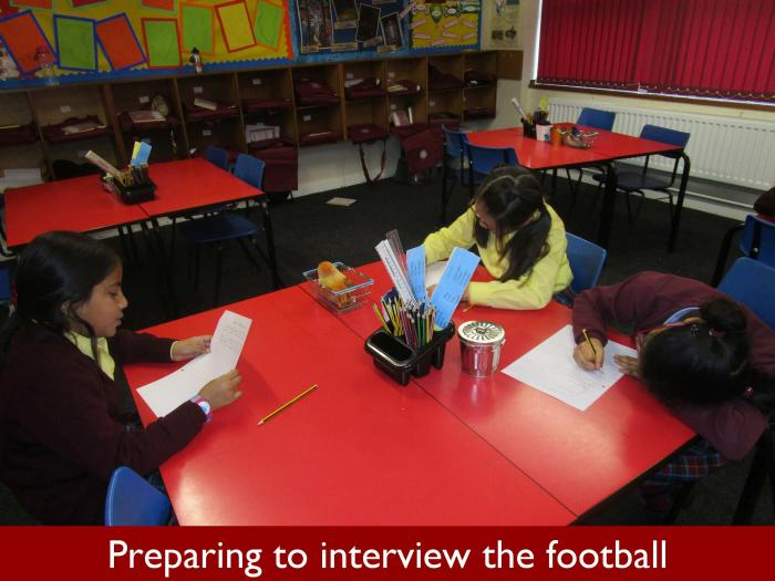 11 Preparing to interview the football
