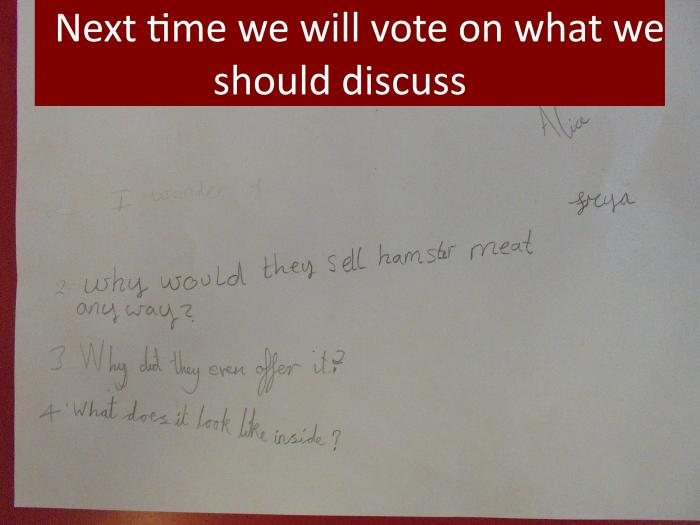 12 Next time we will vote what on what we should discuss