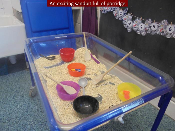 13 An exciting sandpit full of porridge