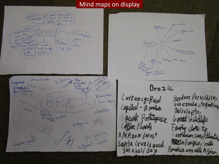 13 Mind maps on display