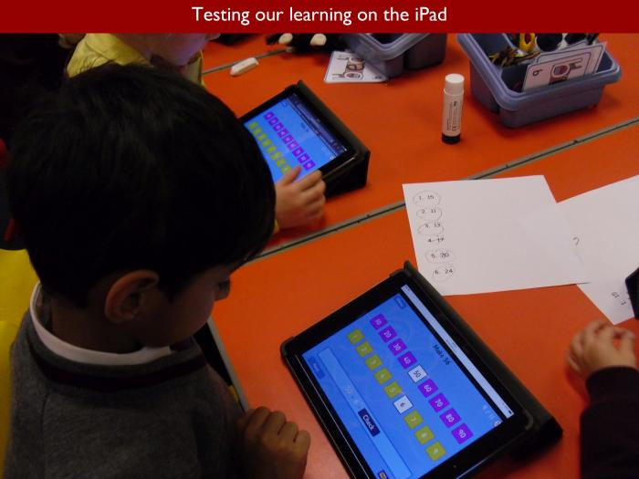 13 Testing our learning on the iPad