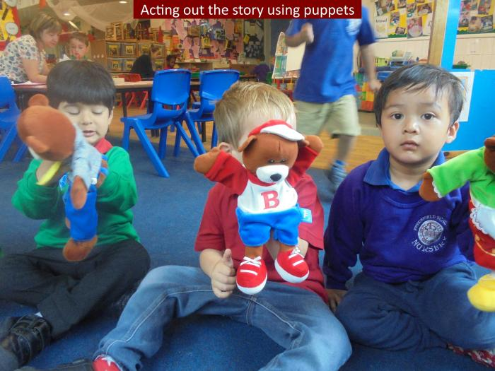 15 Acting out the story using puppets