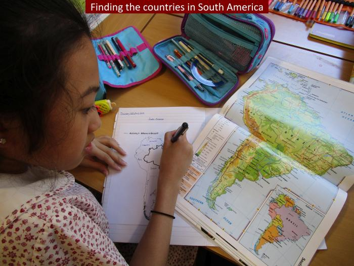 18 Finding the countries in South America