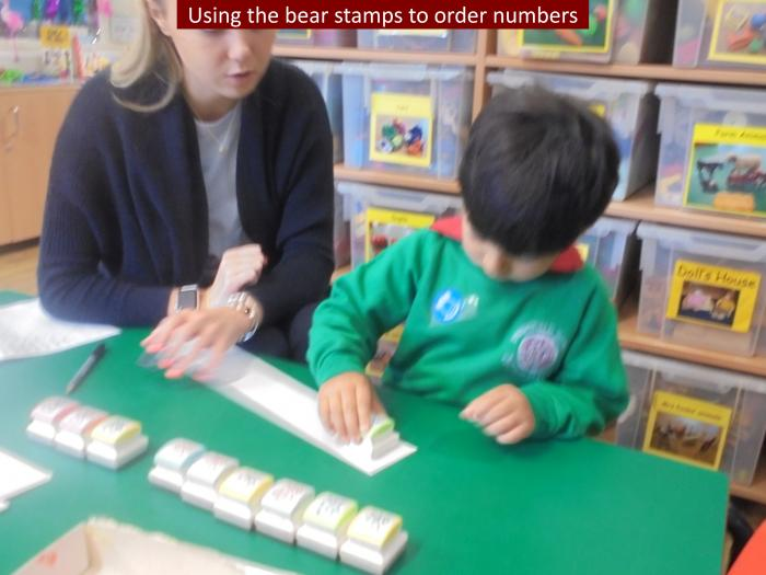 4 Using the bear stamps to order numbers