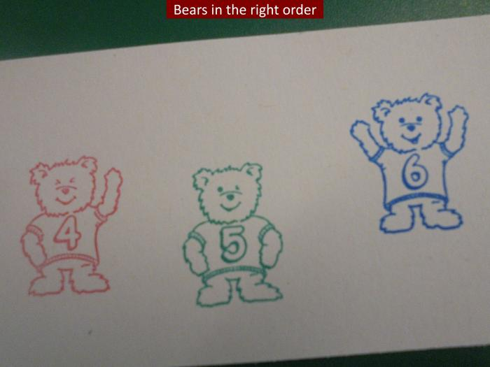 5 Bears in the right order