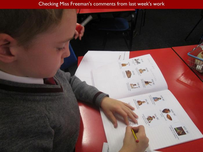 6 Checking Miss Freemans comments from last weeks work