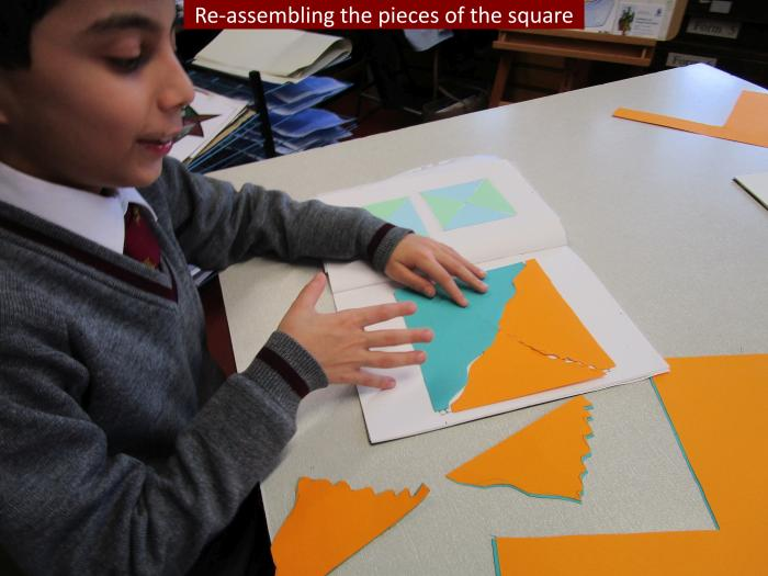 6 Re assembling the pieces of the square