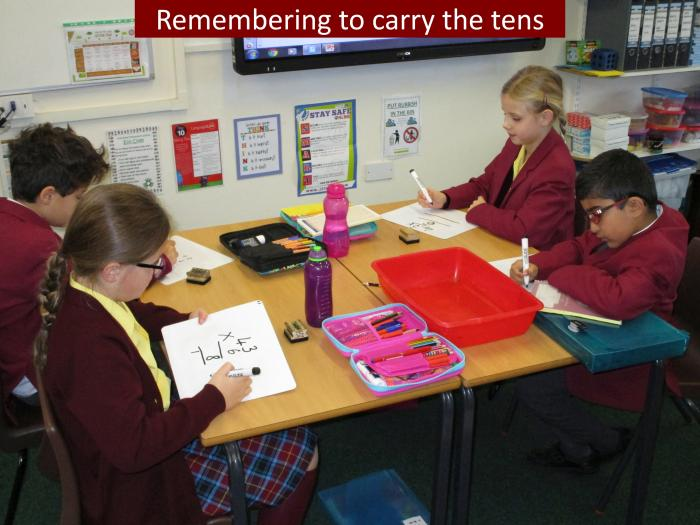 6 Remembering to carry the tens