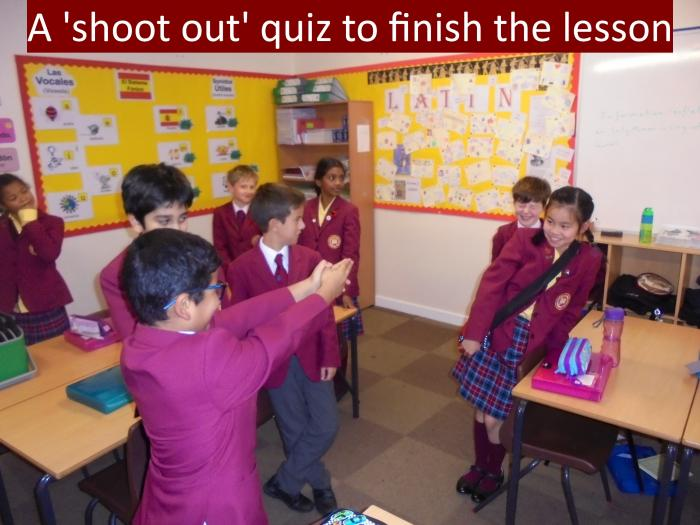 7 A shoot out quiz to finish the lesson