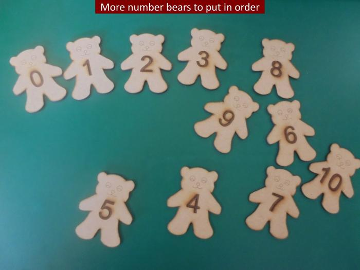 7 More number bears to put in order