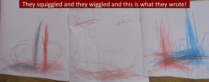 7 They squiggled and they wiggled and this is what they wrote