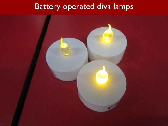 8 Battery operated diva lamps