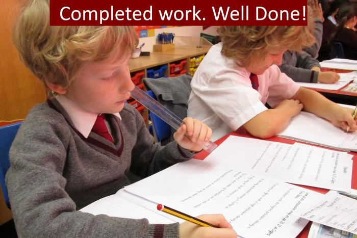 8 Completed work. Well done