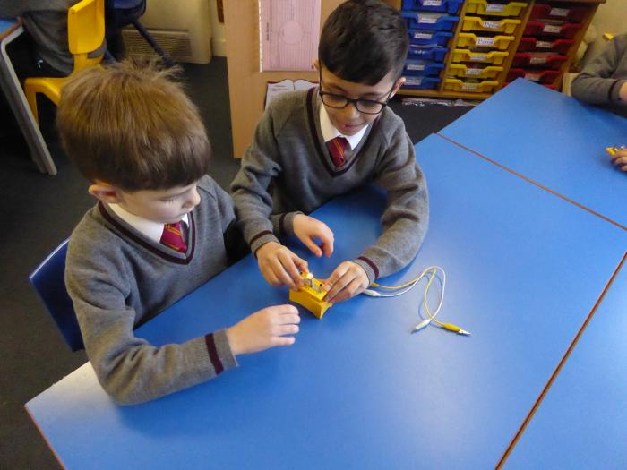 8 Trying to connect a circuit with a partner
