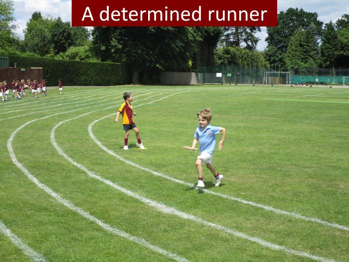 9 A determined runner