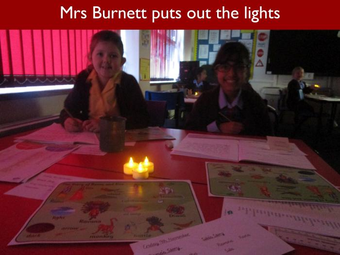 9 Mrs Burnett puts out the lights