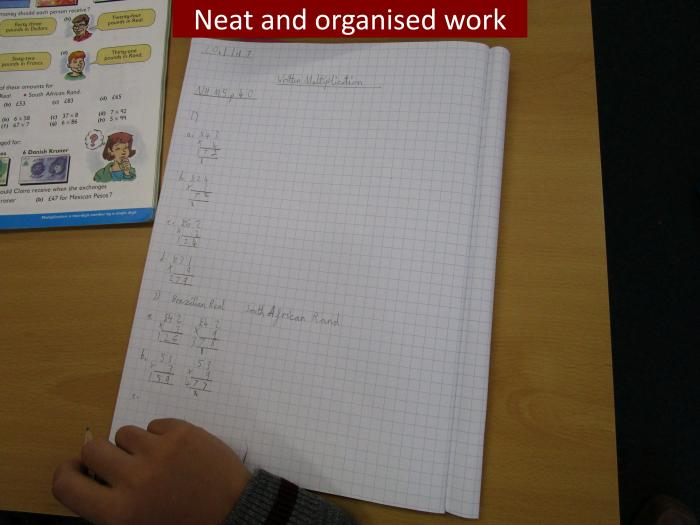 9 Neat and organised work