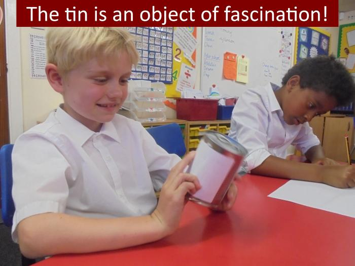 9 The tin is an object of fascination