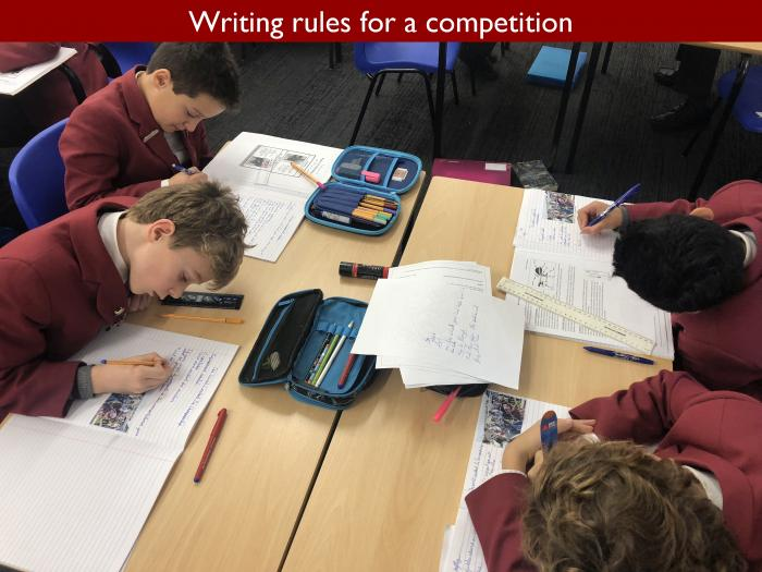 9 Writing rules for a competition