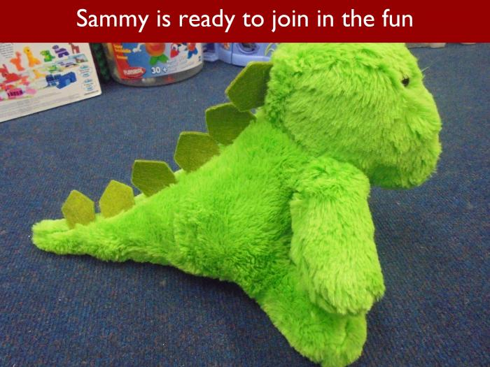 Blog RAH Dinosaurs 14 Sammy is ready to join in the fun