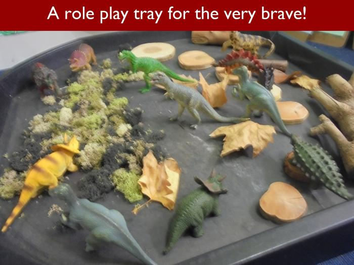 Blog RAH Dinosaurs 5 A role play tray for the very brave